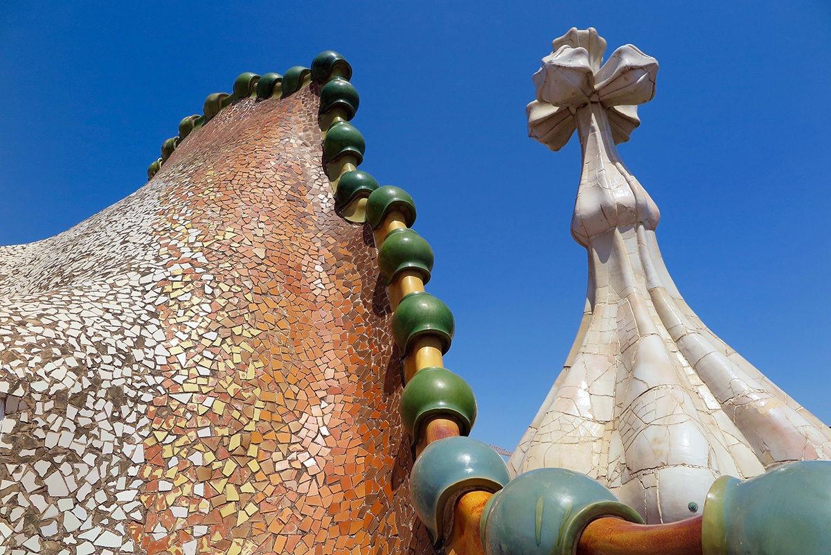 Dragon on top of Casa Batllo, Barcelona