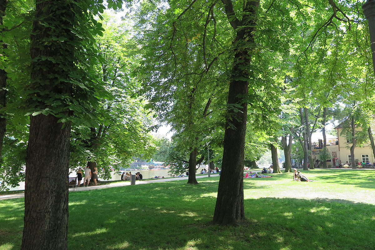 Relaxing on one of Prague's islands is one of the best ways locals spend summer in Prague