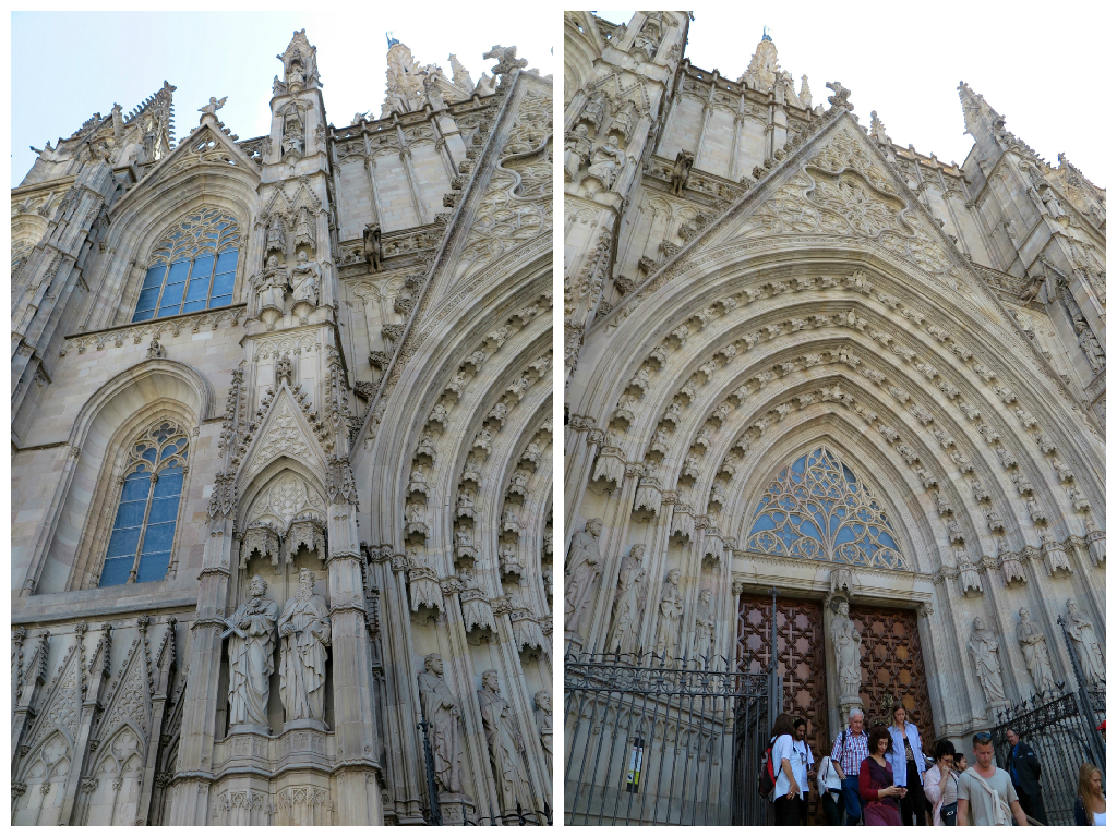 The neogothic facade of Barcelona Cathedral that Gaudi despised