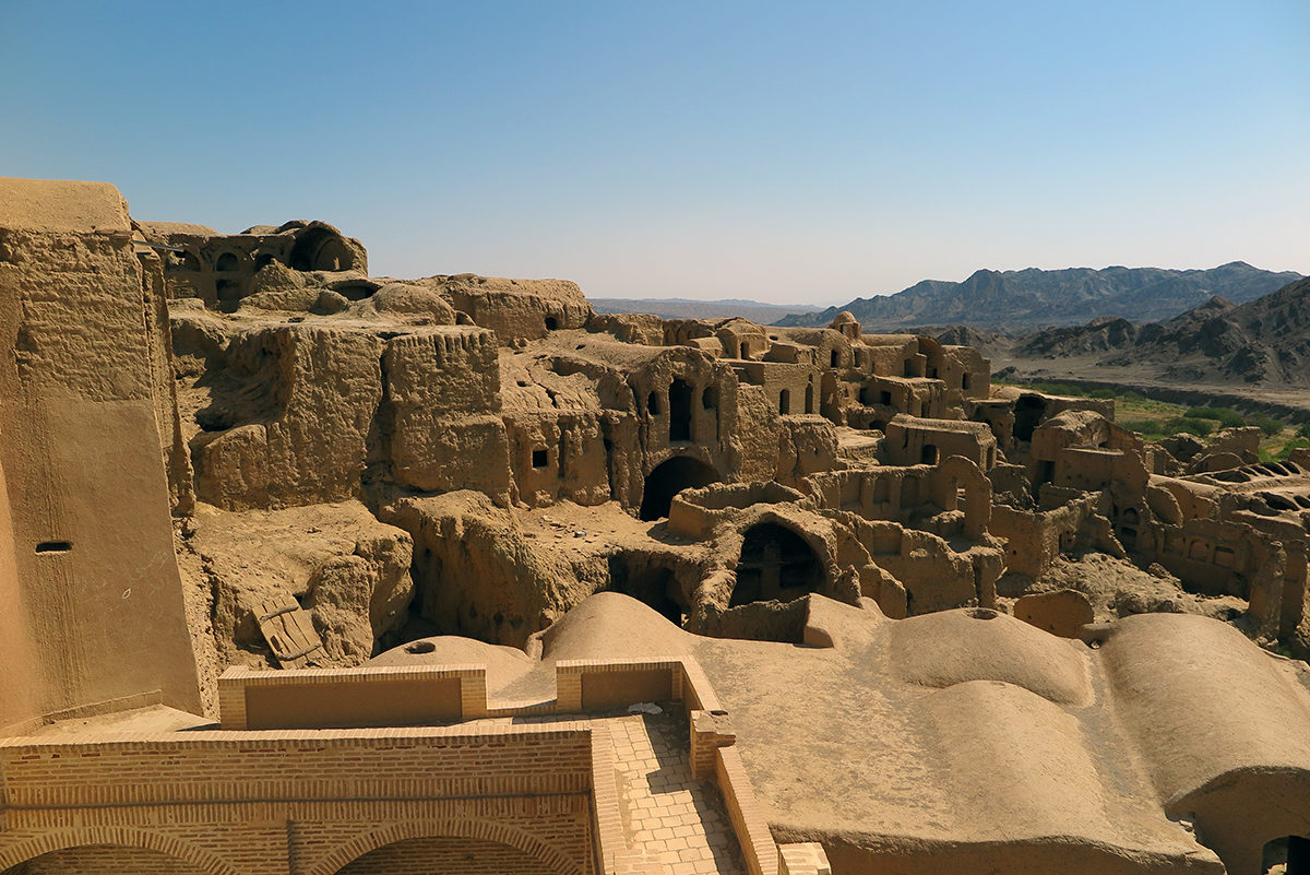 Beautiful mud structures of Kharanaq on the former silk road