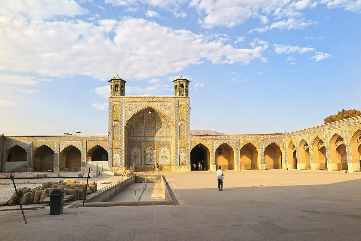 The grounds of Masjed-e Vakil mosque in Shiraz