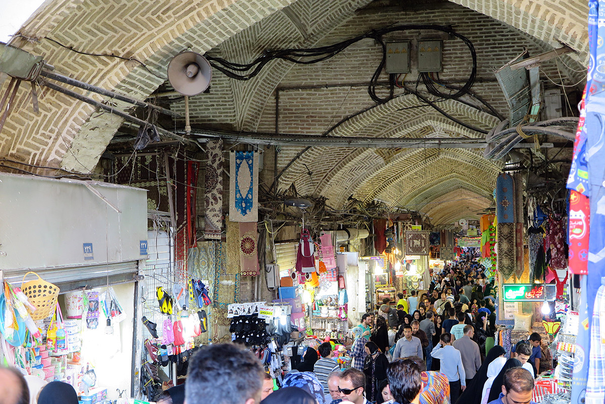 Tehran's bazaar is a city within a city. It was crowded and we heard bad stories.. For the love of our cameras, we didn't go in there.