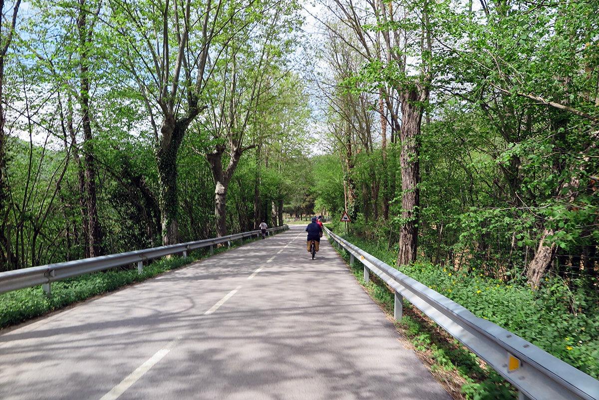 Electric bike ride near Sant Hilari Sacalm, Spain