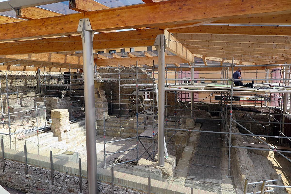 Remnants of Roman thermal baths of Caldes de Malavella