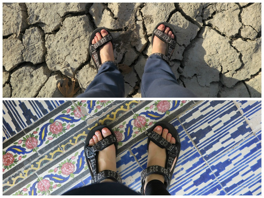 Feet can be exposed in Iran