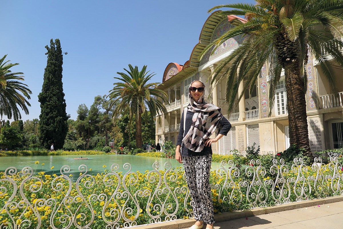 Beautiful colorful garden in Shiraz, Yazd