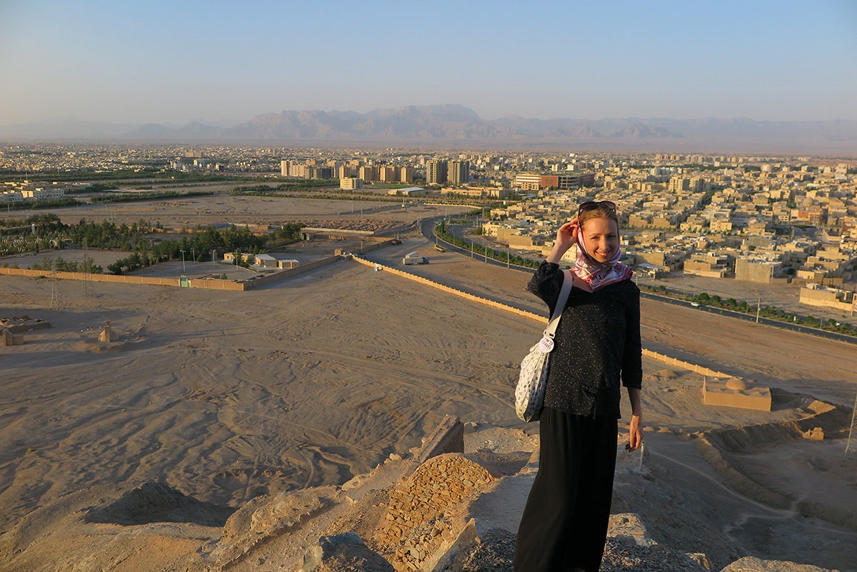On top of the Tower of Silence near Yazd