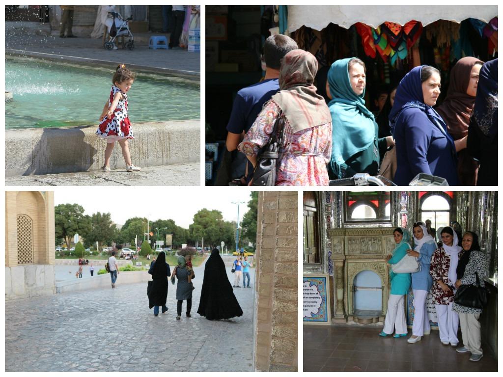 What local women wear in Iran