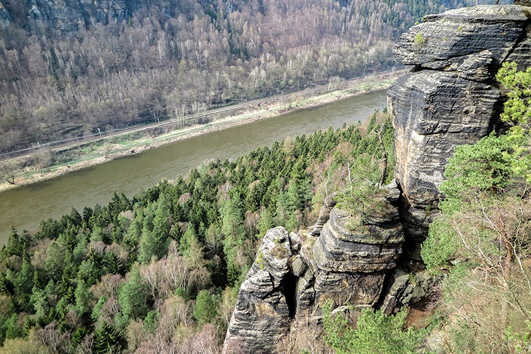 Views from Belvedere viewpoint in Bohemian Switzerland
