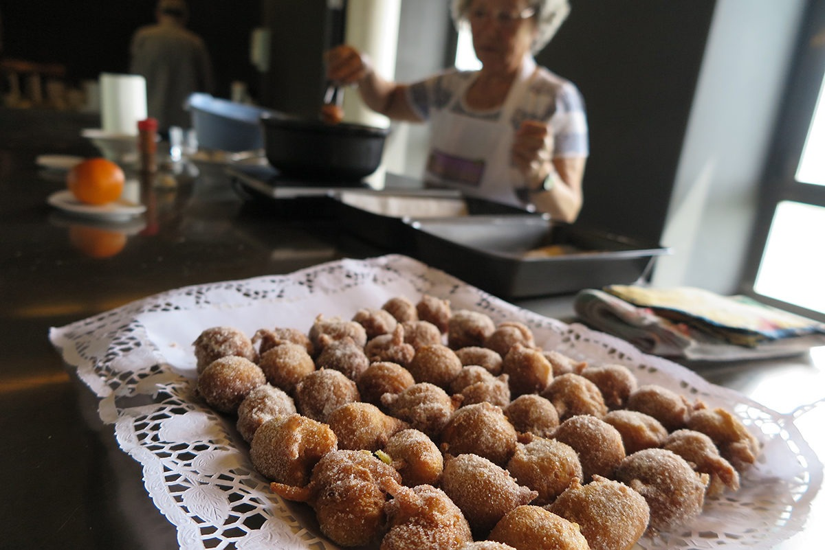 Delicious Bunyols by the ladies of La Cuina Sils
