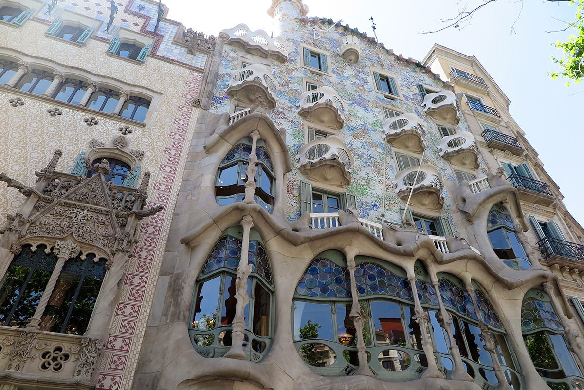The bony structure of Casa Batllo, Barcelona