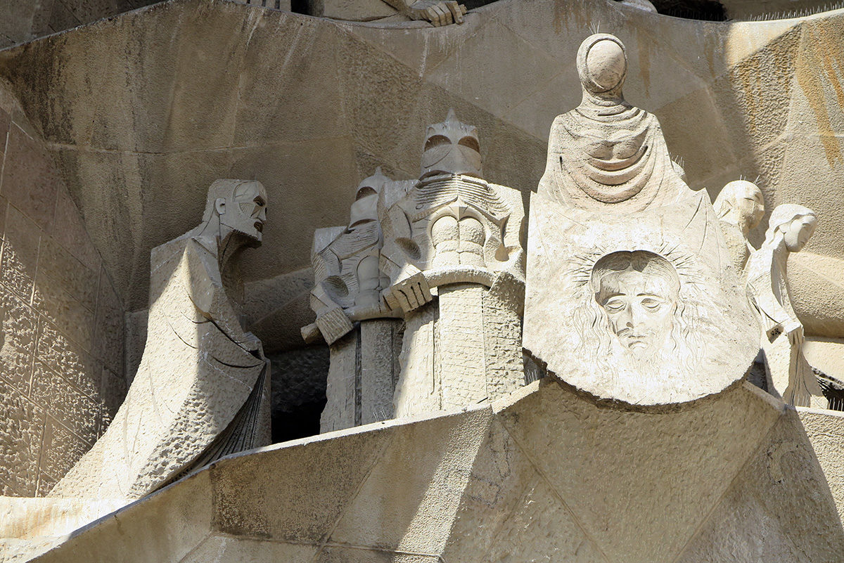 Passion facade of Sagrada Familia, Barcelona