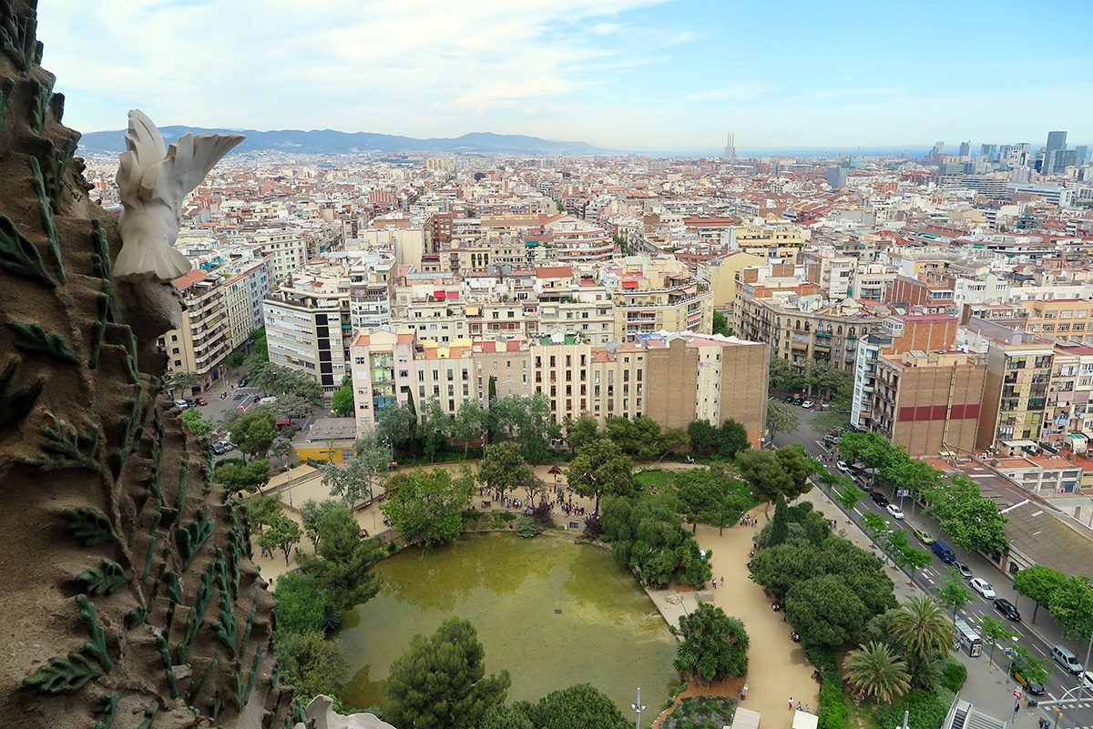 Sagrada Familia - view from Nativity Tower
