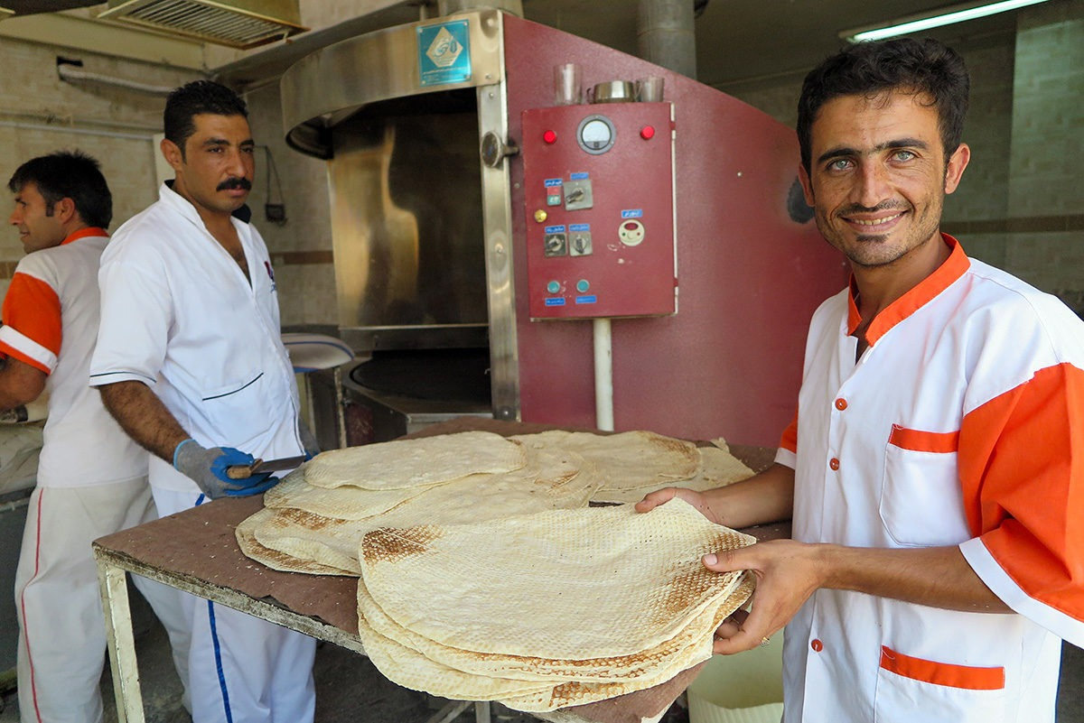 Baker in Shiraz, Iran