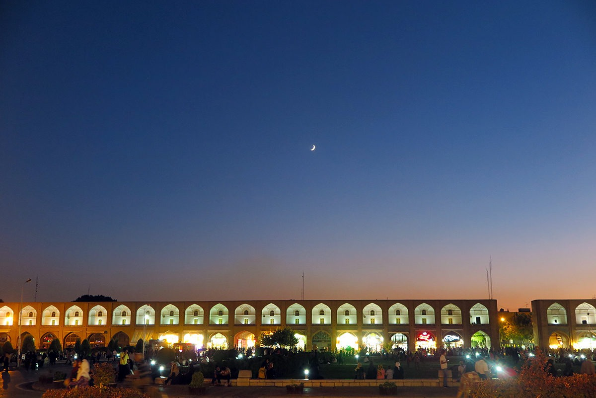 Imam Square, Esfahan, at night