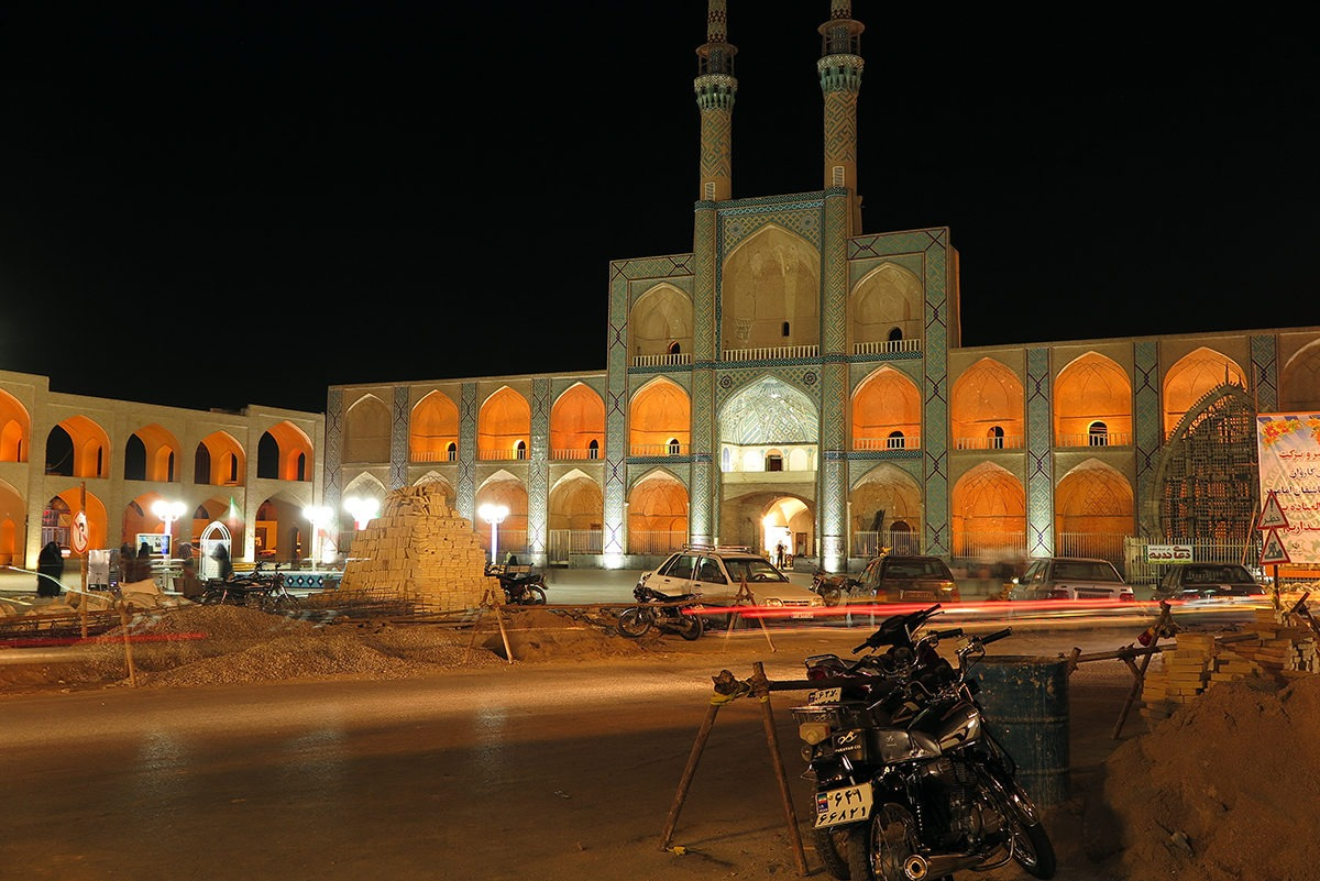 Amir Chakhmaq Complex at night, Yazd
