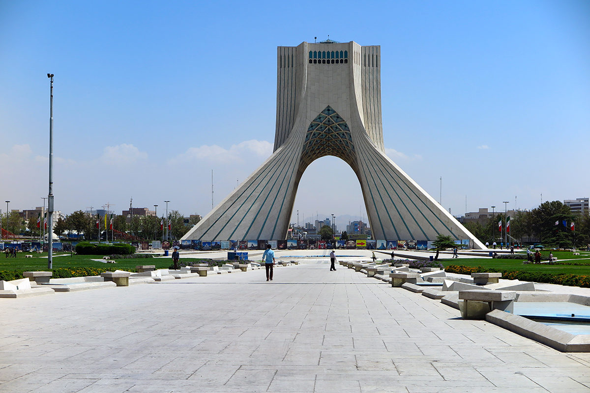 Azadi Tower, a.k.a. the Tower of Freedom - a showcase of Tehran's modern architecture