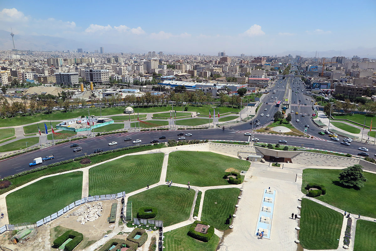 View of Tehran from Azadi Tower