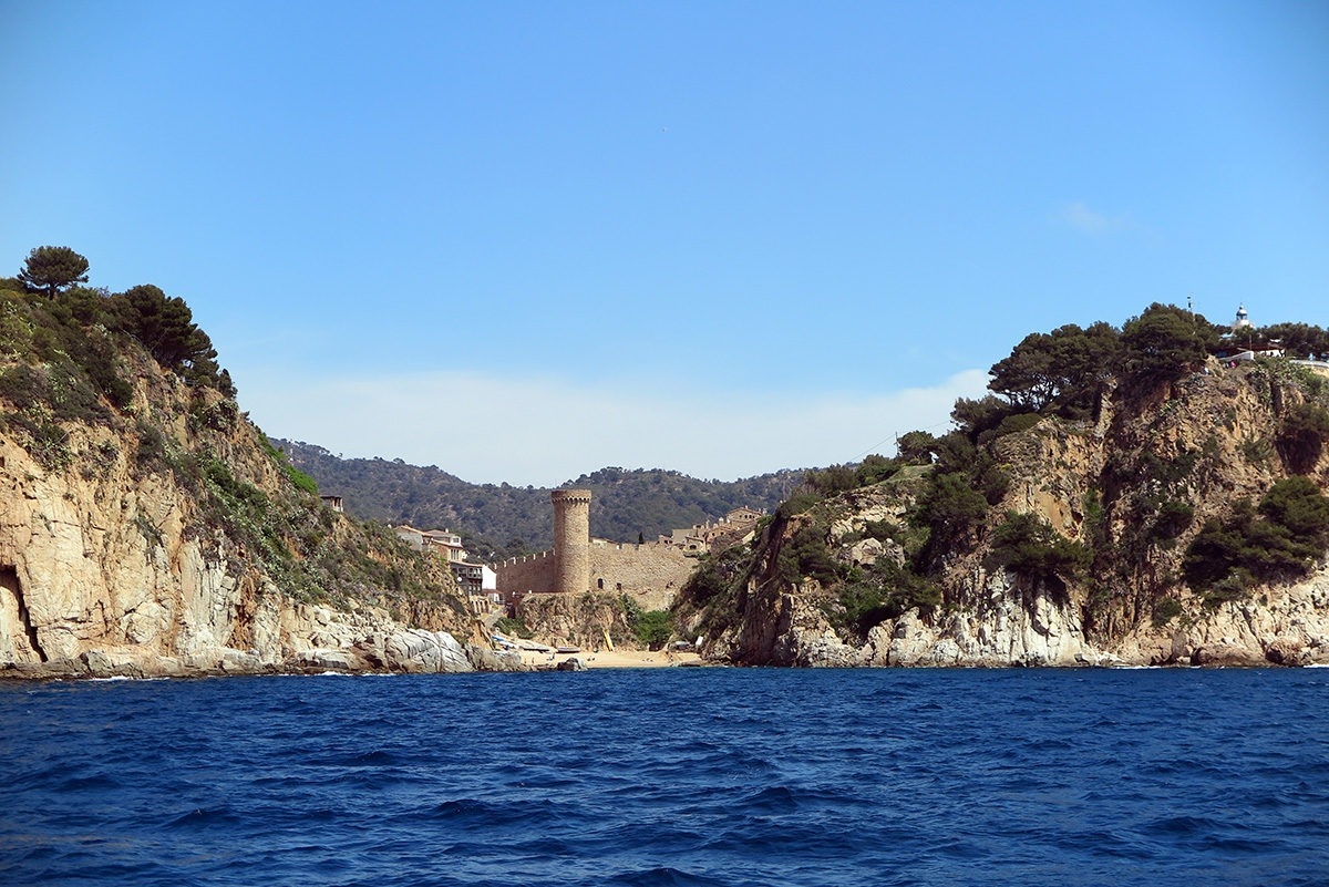 Beautiful dark blue sea near Lloret (as seen from the catamaran!)
