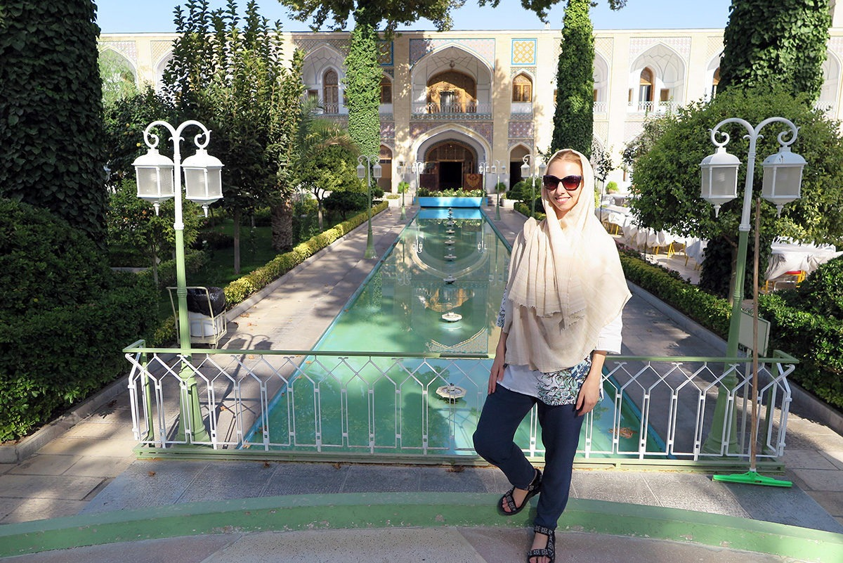 Beautiful gardens in Esfahan, iran