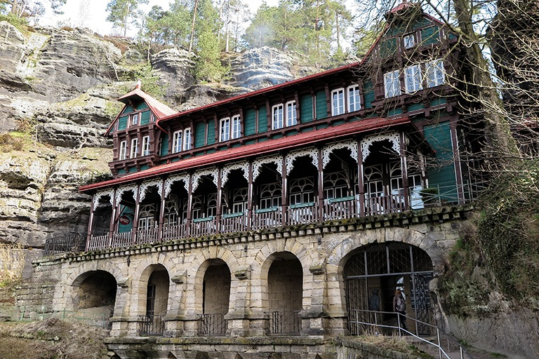 Falcon's Nest - a former hotel for the richest; Bohemian Switzerland