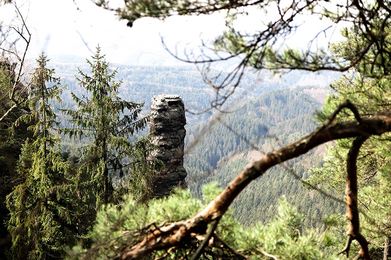 One of many cool sandstone creations you can see around the Pravčická Gate, Bohemian Switzerland