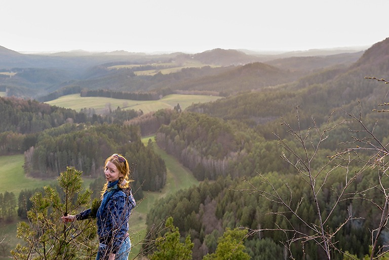 Views of the Bohemian Switzerland from above (Mary's Rock)
