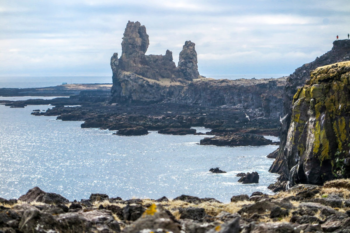 Majestic Lóndrangar cliffs, Snaefallsness Peninsula, West Iceland