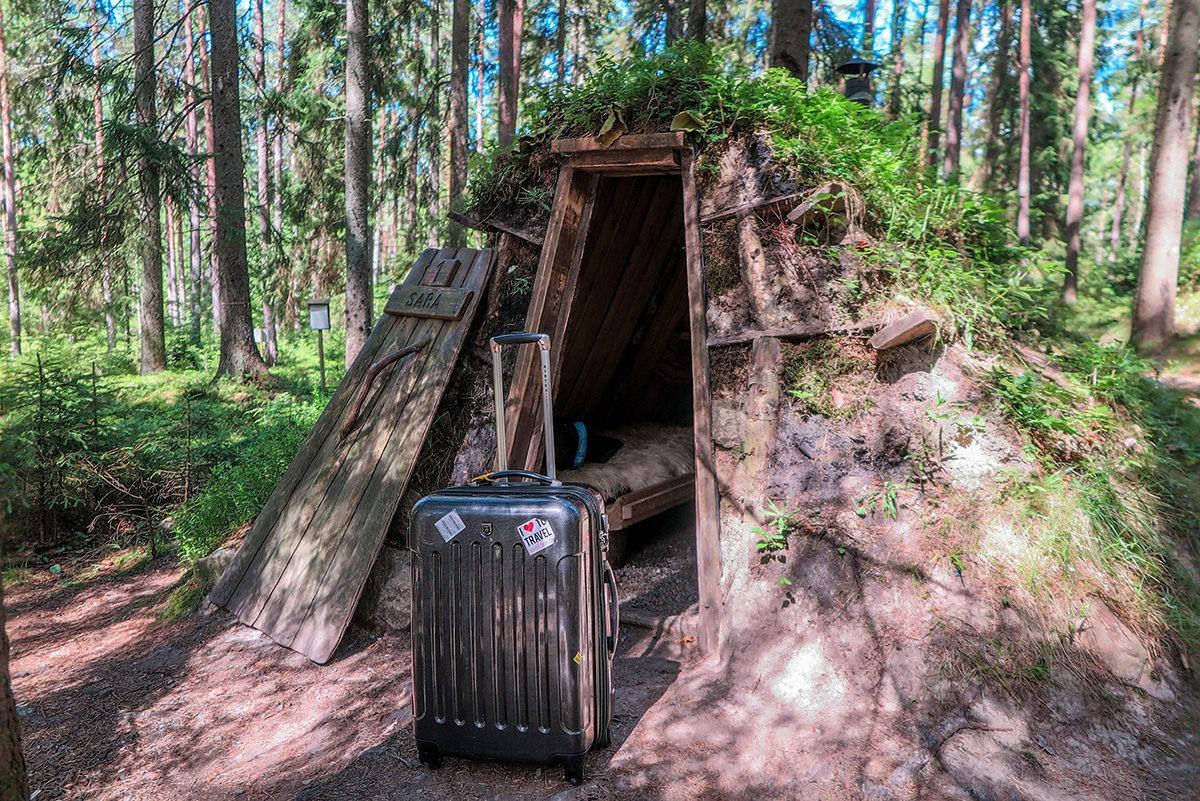 Arrived at Kolarbyn Huts! www.travelgeekery.com