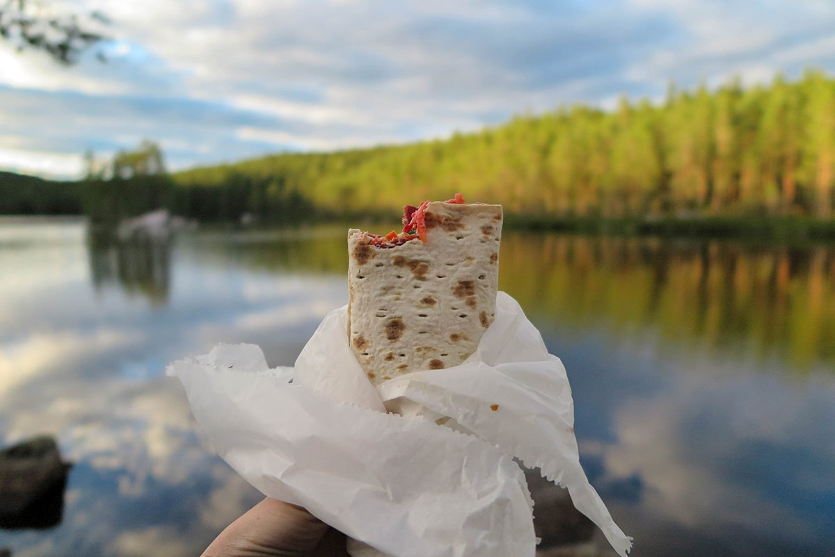 The most delicious wrap in the world enjoyed in Västmanland www.travelgeekery.com