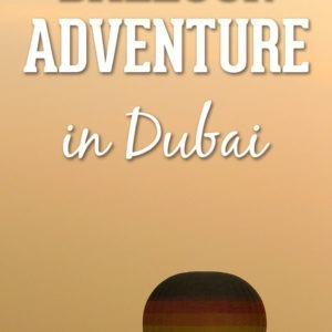 The Best Adventure you can have in Dubai: Flying the hot air balloon above the desert upon sunrise! Read what the experience is like and be prepared to see Dubai from a very different perspective. In my opinion, this is one of the very best things to do in Dubai!