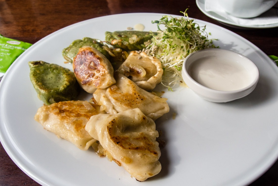 The yummiest pierogy I've tried in Krakow