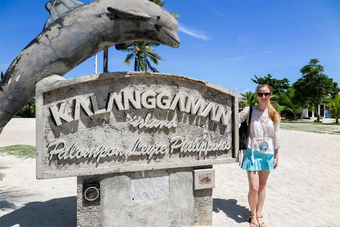 Kalanggaman Island sign that survived the worst tropical storm in human history