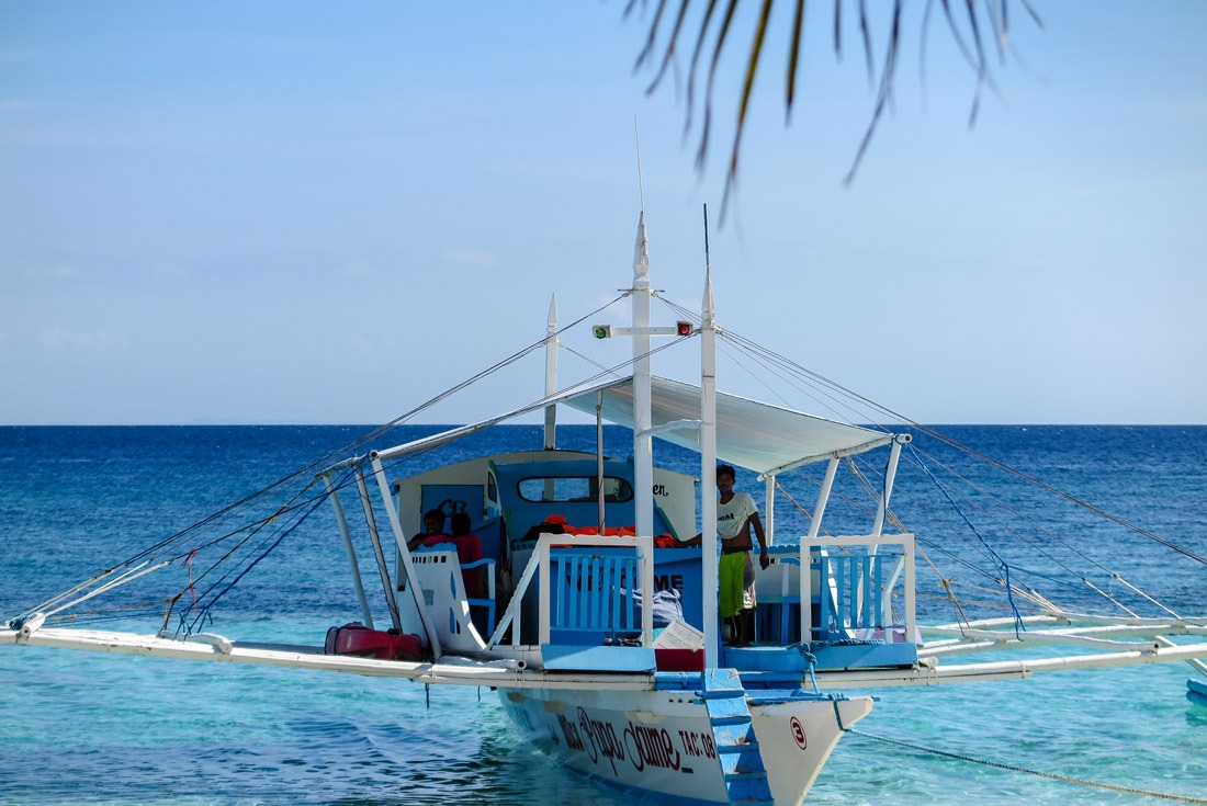 A pump boat on Kalanggaman Island, Philippines