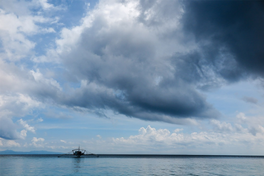 Stormy clouds above Kalanggaman Island.