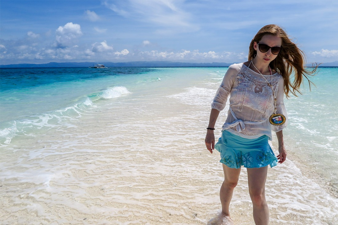 Walking the sandbar of Kalanggaman