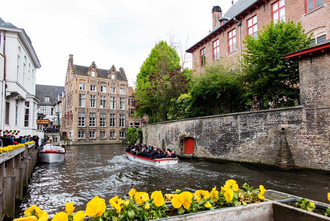 River cruises in Bruges, Belgium