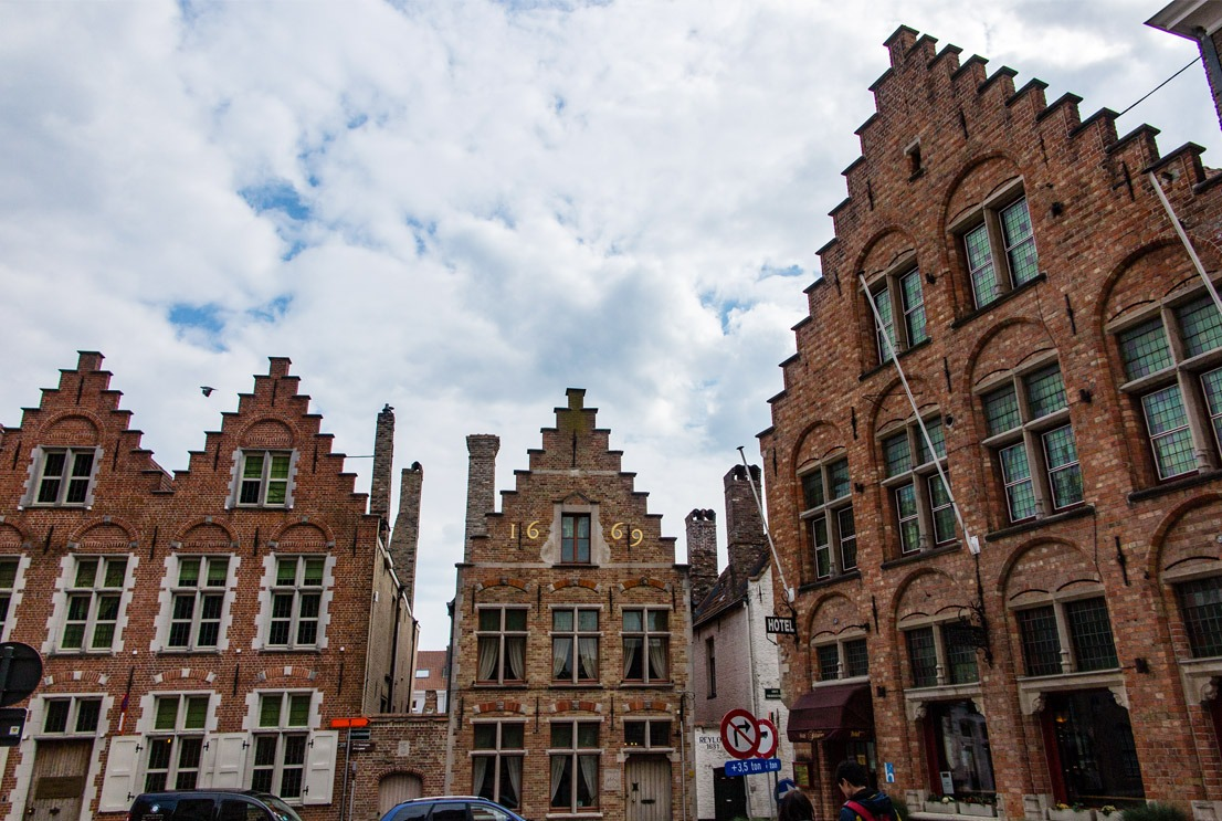 Very unique architecture in Bruges that tourists from all over the world come to admire.