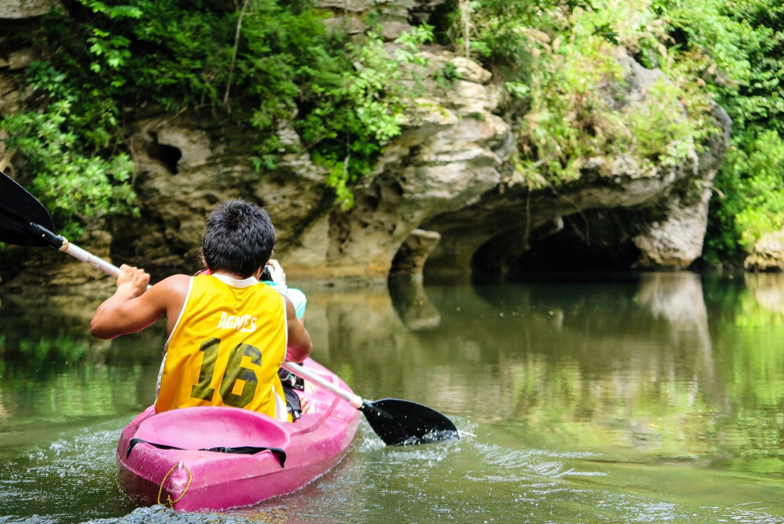 Kayaking in Sohoton National Park, Samar