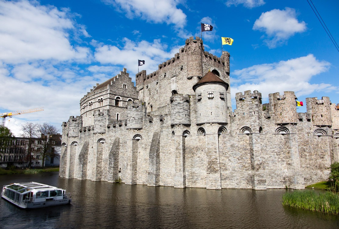 Castle of the counts in Ghent and the spot where students protested against rising beer prices from :)