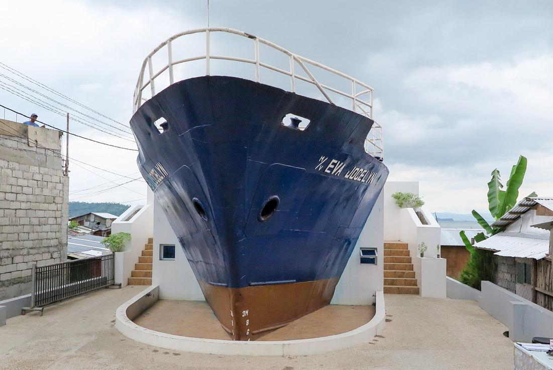 Eva Jocelyn Ship in Tacloban, Leyte