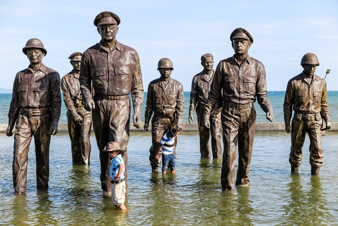 Statue of Gen. McArthur Landing in Leyte, Philippines