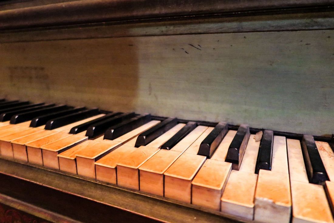 A 100 year old piano in Santo Nino Shrine, Tacloban