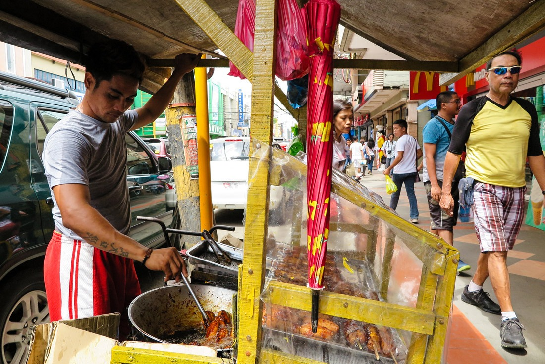 The streets around the market in Tacloban are great for people watching.