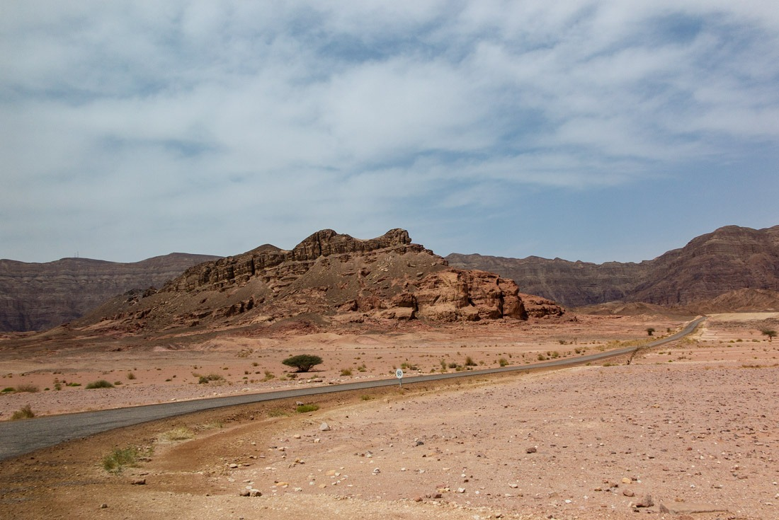 Driving through Timna National Park