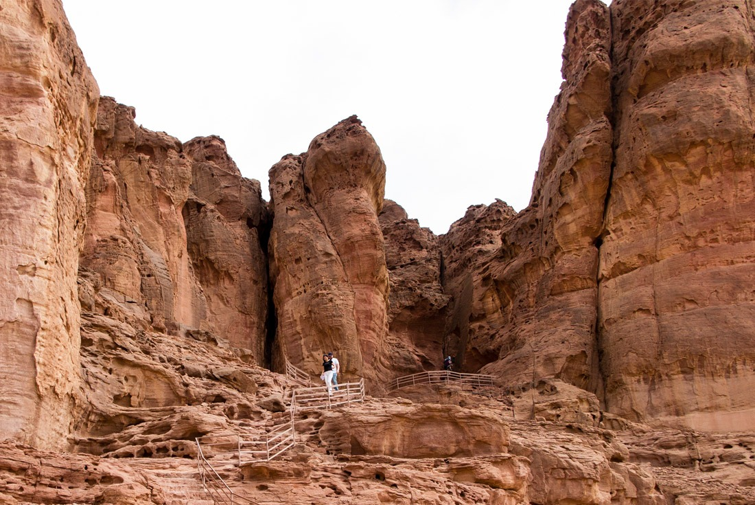 Entering Hathor's Temple in Timna Park