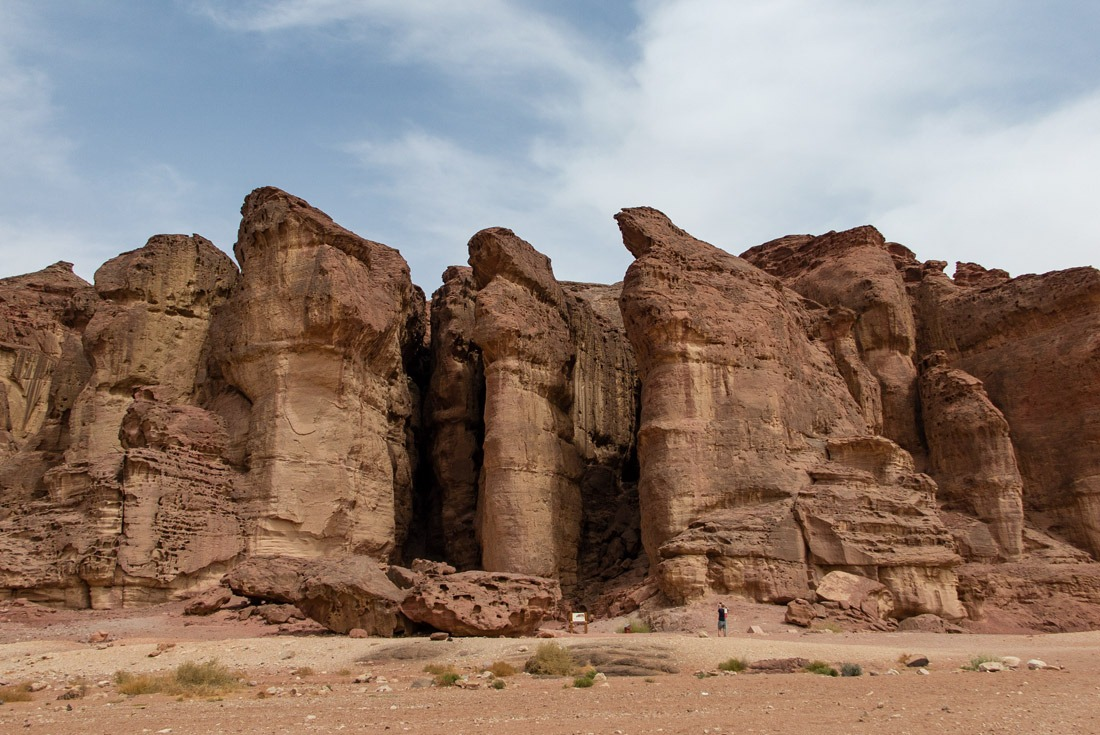 King Solomon's Pillars in Timna Park, Eilat Israel