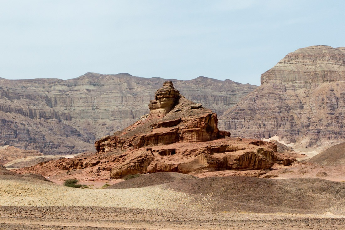 A spiral shaped rock in Timna Park, Eilat