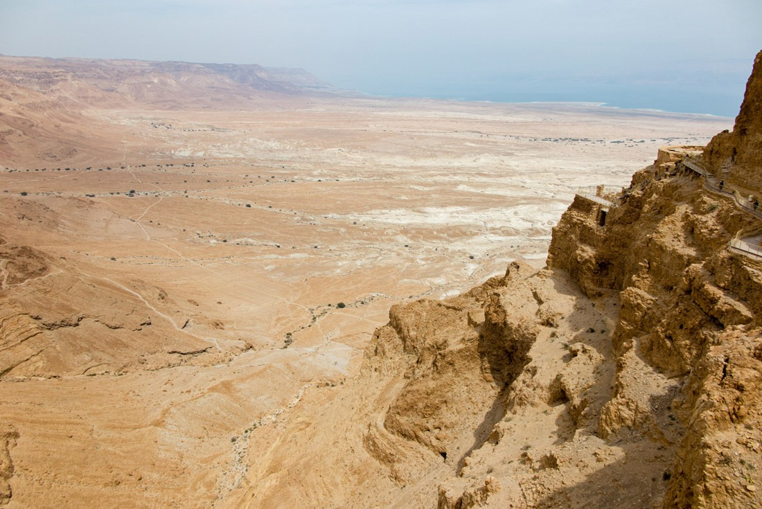 King Herod's Palace on the side of Masada Hill