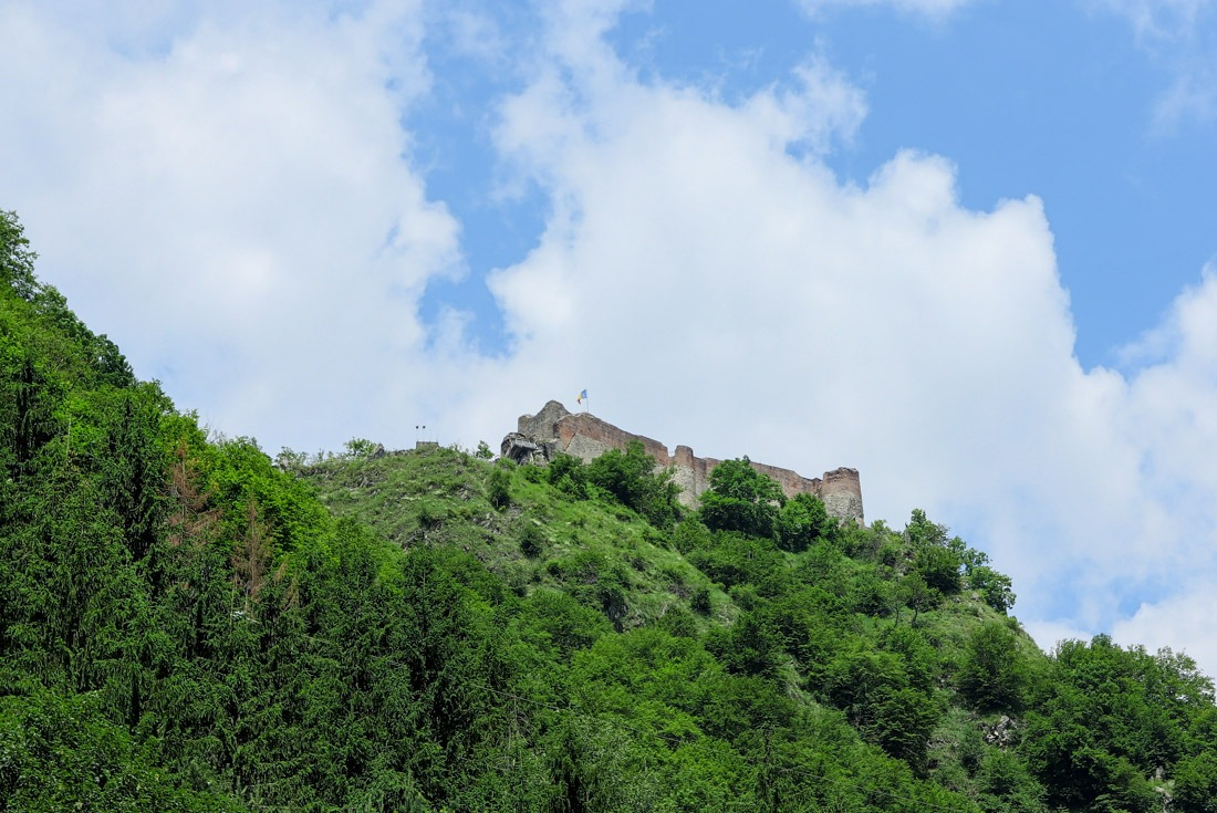 Poenari Castle where Vlad the Impaler (Dracula) lived